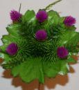 Искусственные цветы- заливка шишечка 6-ка  Z-49