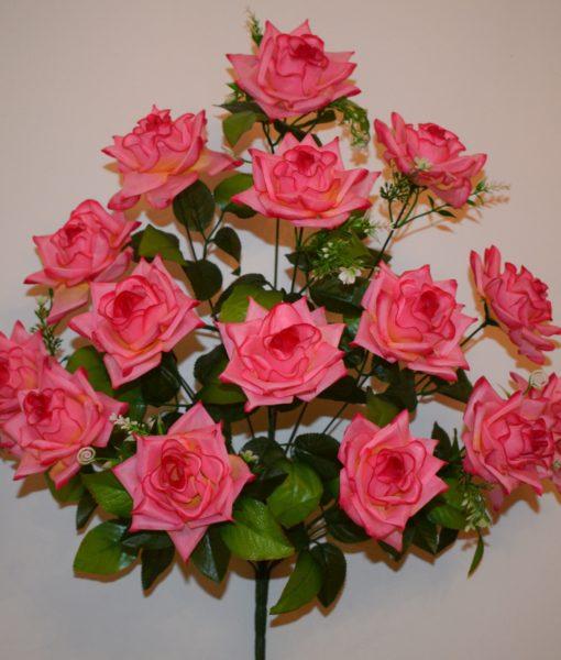 Искусственный цветок — Роза острая с пластмасками 15-ка R-526