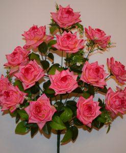 Искусственный цветок - Роза острая с пластмасками 15-ка R-526