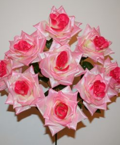 Искусственные цветы —Роза открытая атлас 9-ка R-395