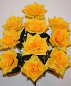 Искусственный цветок - Роза острая 10-ка R-525