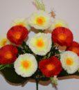 Искусственный цветок - Маргаритка цветная 13-ка R-19