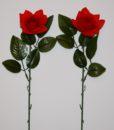 Искусственные цветы- Ветка Розочка бархатная открытая B-44