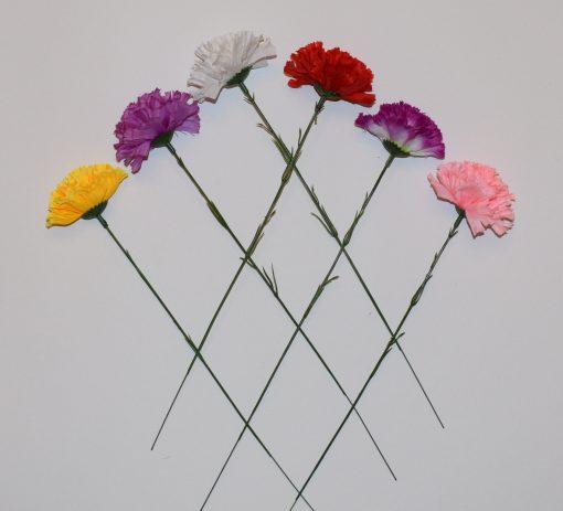 Искусственные цветы- Ветка Гвоздичка цветная B-43