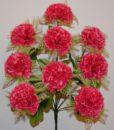 Искусственные цветы —Гвоздика с резеткой 9-ка R-406