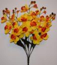 Искусственные цветы-Ирис большой 5 веток не прес R-890