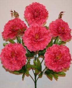 Искусственные цветы —Пион атлас 6-ка R-422