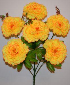 Искусственные цветы —Пион атлас 6-ка R-422Искусственные цветы —Пион атлас 6-ка R-422