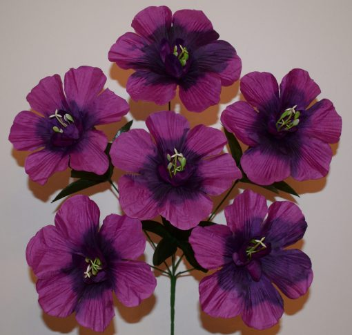 Искусственные цветы —Мальва новая R-747