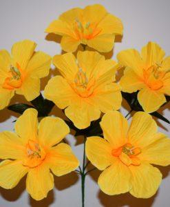 Искусственные цветы —Мальва новая R-421