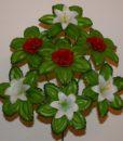 Искусственные цветы —Роза с лилией пластмасовая R-431