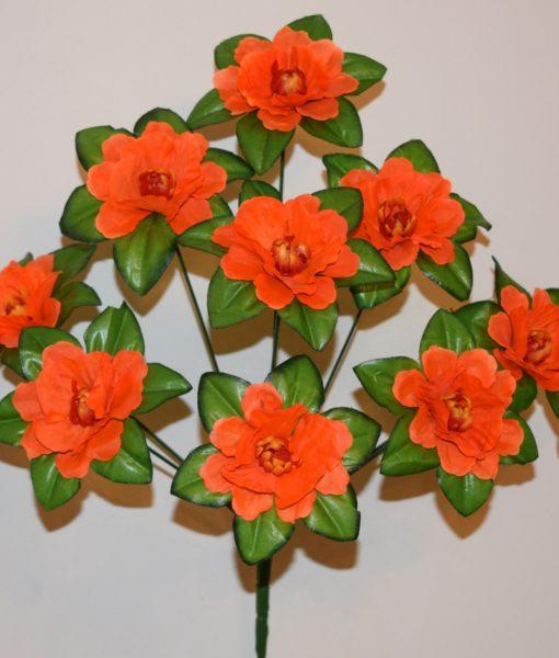 Искусственные цветы —Мальва с твердой срединой 9-ка R-454