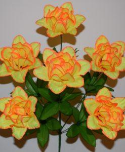 Искусственные цветы —Роза камелия атлас 6-ка R-436