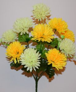 Искусственные цветы —Шарик-хризантема микс 10-ка R-866