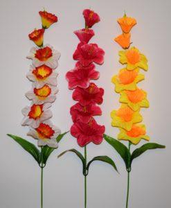 Искусственные цветы- Ветка Нарцис цветной B-49