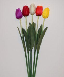 Искусственные цветы- Ветка Тюльпан маленький B-55