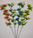 Искусственные цветы- Ветка Ромашка цветная 8-ка B-57