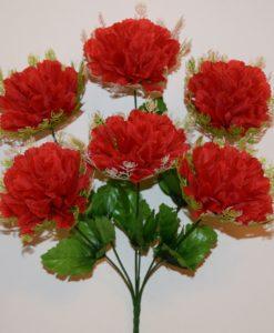 Искусственные цветы -Хризантема с резеткой 6-ка R-460