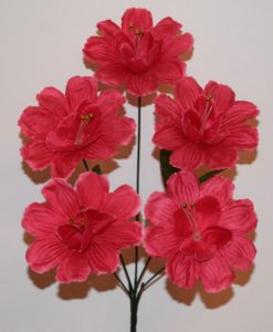 Искусственные цветы-Мальва бусинка 5-ка R-505