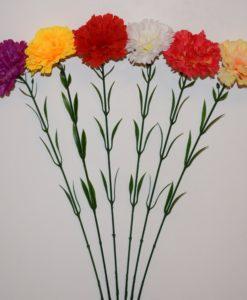 Искусственные цветы- Ветка Гвоздика атласная B-59