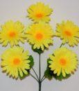 Искусственный цветок — Ромашка цветная 6-ка R-1