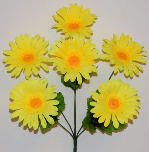 Искусственный цветок - Ромашка цветная 6-ка R-1