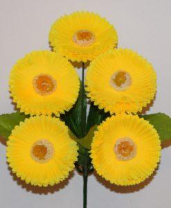 Искусственные цветы-Маргаритка 5 голов R-271