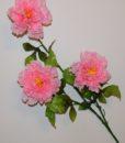 Искусственные цветы- Ветка Пион атласный 3-ка B-61