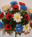 Искусственные цветы -Букет полевой микс R-472