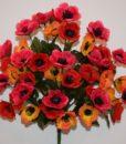 Искусственные цветы- Мак разноцветный букет R-475
