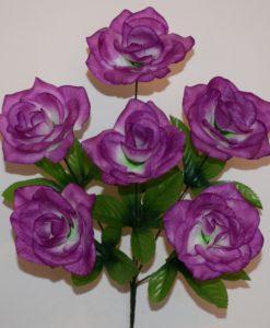 Искусственные цветы —Роза открытая 6-ка R-606