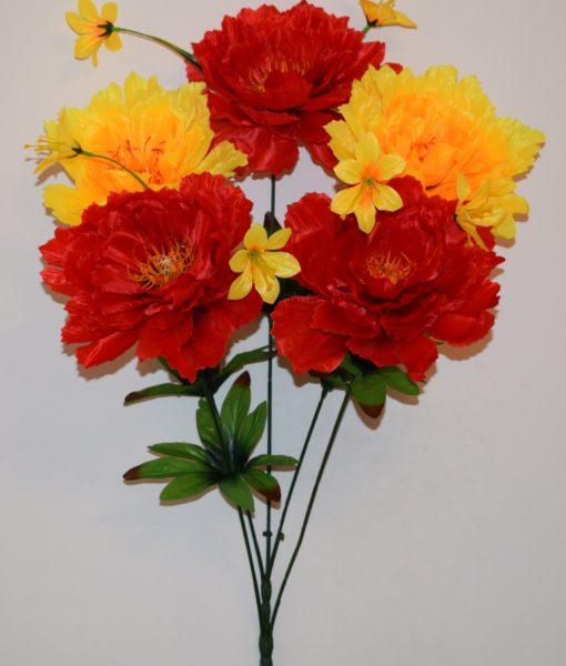 Искусственные цветы —Пион большой 5-ка (непрес) R-518
