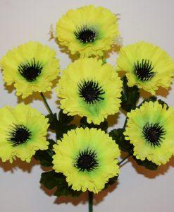Искусственные цветы —Маргаритка с черными ресничками 7-ка R-353