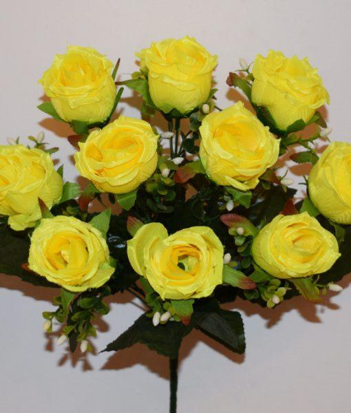 Искусственный цветок — Бутон кучерявый атлас R-9