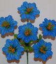 Искусственный цветок - Мальва с присыпкой 6-ка непресованая R-527