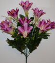 Искусственные цветы-Лилия+крокус с пластмасками не прес R-819