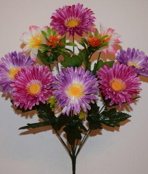 Искусственные цветы-Астра с крокусами R-128