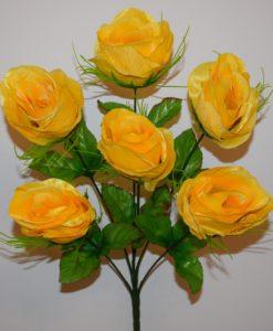 Искусственные цветы-Роза атласна 6-ка R-226