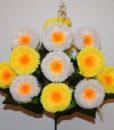 Искусственный цветок — Маргаритка цветная 13-ка R-19