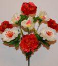 Искусственный цветок — Пион с орхидейкой  R-530