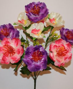 Искусственный цветок - Пион с орхидейкой R-530