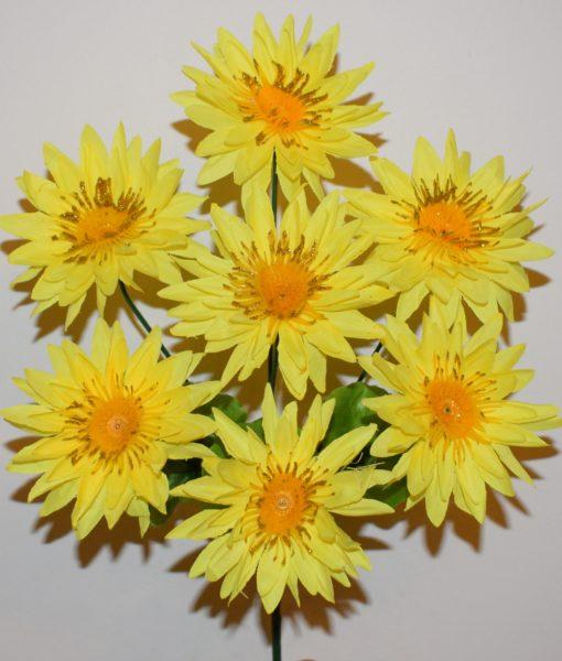 Искусственные цветы —Астра с золотом 7-ка R-434