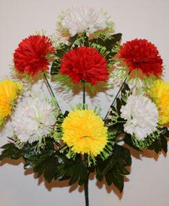 Искусственные цветы -Гвозлика цветная с резеткой R-553