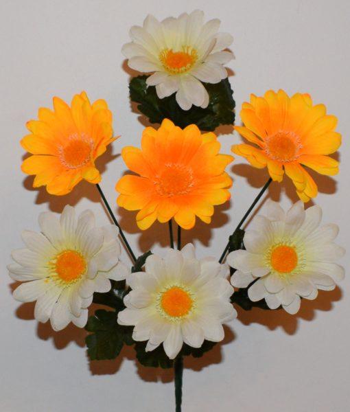 Искусственные цветы-Ромашка цветная 7-ка  R-569