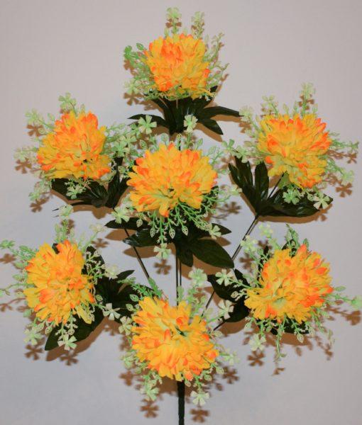 Искусственные цветы-Ежик с резеткой 7-ка R-566