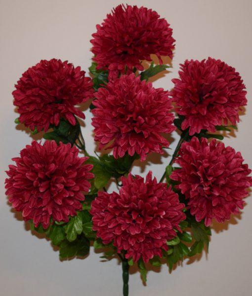 Искусственные цветы-Шар хризонтема 7 голов  R-568