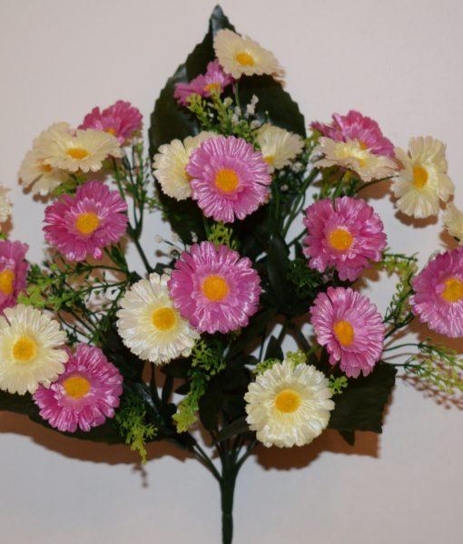 Искусственные цветы-Маргаритка атласная R-583