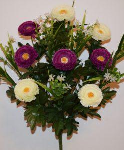 Искусственные цветы-Маргаритка люкс с пластмасками R-581