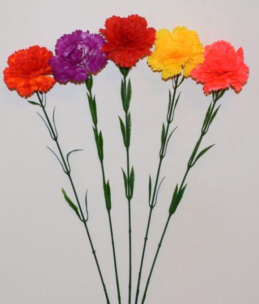 Искусственные цветы- Ветка Гвоздичка натуральная B-65