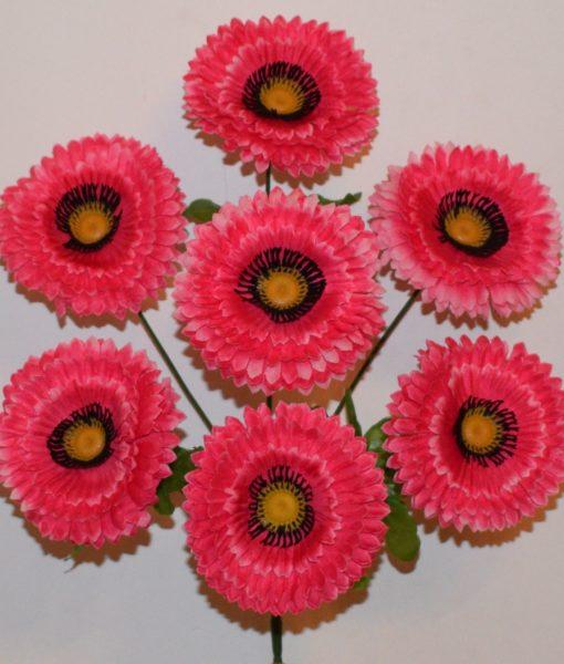 Искусственные цветы -Маргаритка с ресничками 7-ка R-332